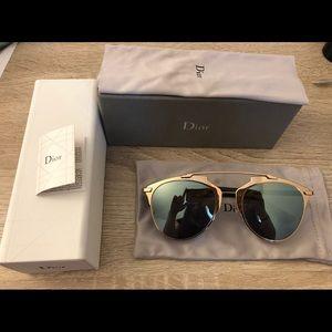 Dior Reflected Rose gold Khaki Sunglasses